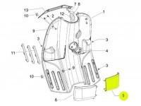 Tray inside legshield -PIAGGIO- Vespa S (ZAPC38, ZAPM44, ZAPM68) - rhs