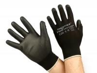 Arbeitshandschuhe - Mechaniker Handschuhe - Schutzhandschuhe -BGM PRO-tection- Feinstrickhandschuh 100% Nylon mit Polyurethan Beschichtung - Grösse XS (6)