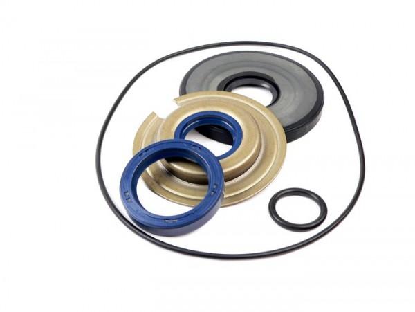 Wellendichtringsatz Motor -OEM QUALITÄT- Vespa Sprint150 (VLB1T), Sprint Veloce150 (VLB1T -294259), GTR125 (VNL2T -145900), TS125 (VNL3T -18139), GT125, VNA, VNB, VBA, VBB, Super, GL150 (VLA1T) - inkl. O-Ringe