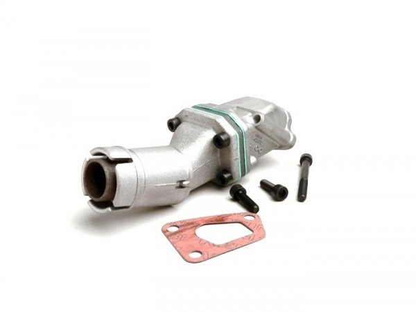 Colector de admisión - para caja de láminas -POLINI válvula de láminas 3 agujeros- Vespa PK XL - Dellorto SHB Ø=19/19mm