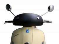 Windschutzscheibe -MOTO NOSTRA, b=435mm, h=195mm- Vespa GTV, GT 60 - schwarz matt