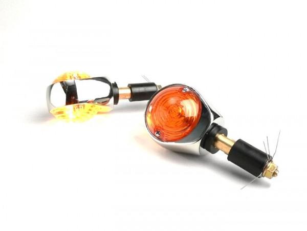Pair of indicators -BULLS EYE- universal - amber