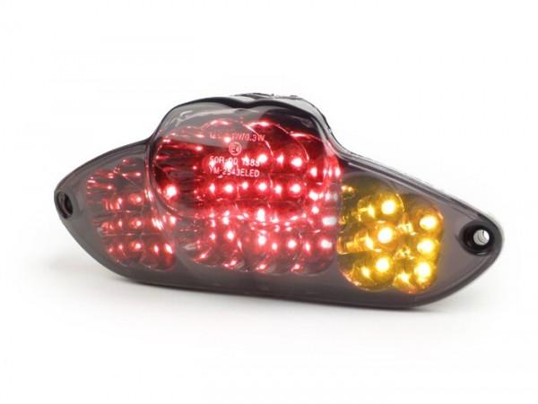 Rücklicht -BGM ORIGINAL Klarglas LED mit Blinkerfunktion- Gilera Runner (ab Bj. 2006), DNA - schwarz