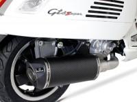 Pot d'échappement -REMUS (avec catalyseur) Ø65mm RSC- Vespa GTS 300ie SUPER (ZAPMA33) - (Euro 4, 2016-) - carbone