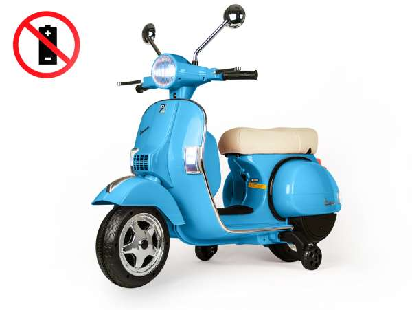 Scooter for kids -Vespa PX150- electric (supplied without battery) - blue