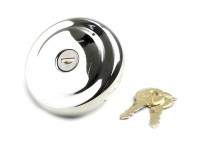 Fuel tank cap -BGM ORIGINAL- PX (since 1984), PK XL - stainless steel, lockable
