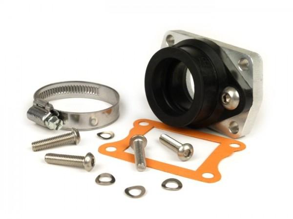 Mounting rubber and adaptor plate -MB DEVELOPMENTS Reed valve- Lambretta 200-240 cc - CS=34mm