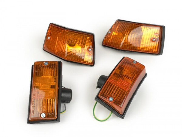 Blinker-Set -PIAGGIO- Vespa PX80, PX125, PX150, PX200, T5 125cc - Orange