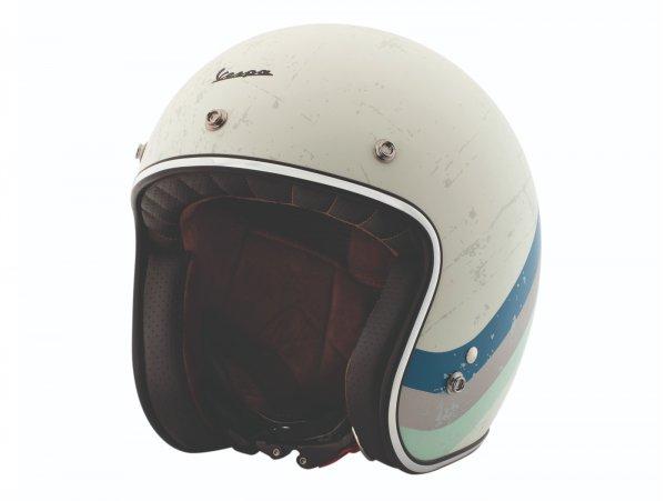 Casque -VESPA casque jet Heritage- blanc (biancospino) L (59-60cm)