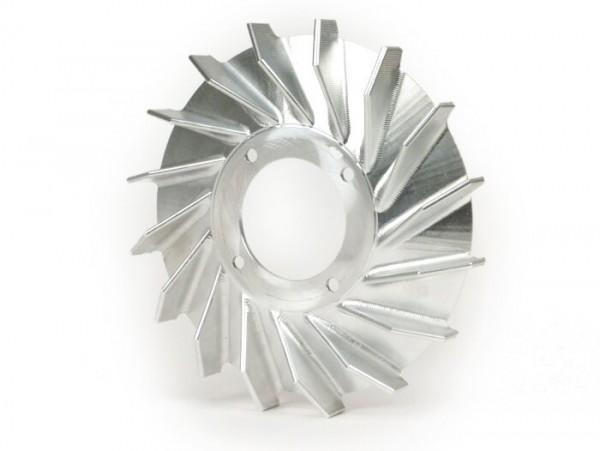 Ventilador para rotor volante -MMW aluminio CNC 360Gr.  para PINASCO Flytech- Vespa Wideframe V15-33, VM, VN, ACMA, VB1, VGL1, VL, GS150
