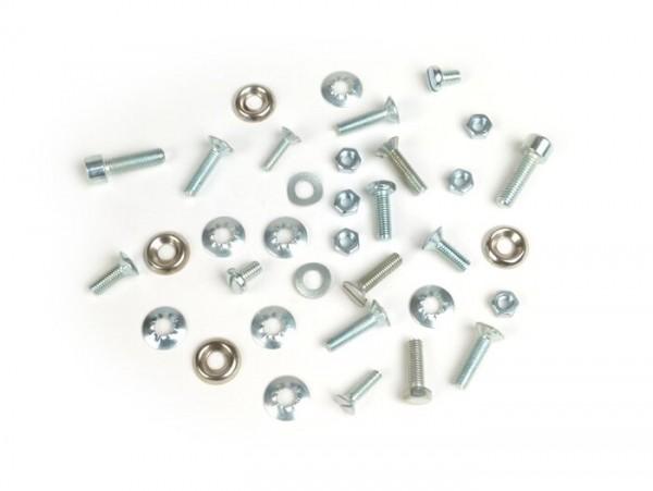Horn cover and fender fastener kit -LAMBRETTA-Lambretta LI (Serie 3), LIS, SX, TV (Serie 3), DL, GP