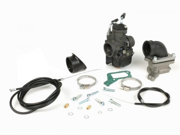 Kit carburador -MALOSSI 30mm Dellorto PHBH BD, válvula de láminas X360- Vespa PX200, Cosa 200, Rally200 - Ø conexión=34mm