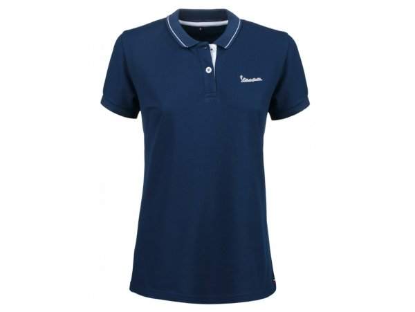 "Polo-shirt, women -VESPA ""Graphic"", blue- XL"