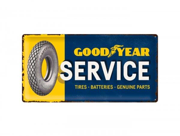 """Reklameschild -Nostalgic Art- """"Goodyear - Service"""", 25x50cm"""