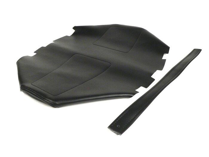 Sitzbank LEDER SCHWARZ Sitzbezug für Piaggio Vespa PK 50XL Elestart V5X3T