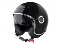 Helmet -VESPA VJ1- open face helmet, black - XS (52-54cm)