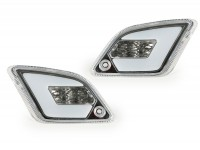 Pair of rear indicators -POWER 1 LED (2014-) with position light (E-mark)- Vespa GT, GTL, GTV, GTS 125-300 - colourless