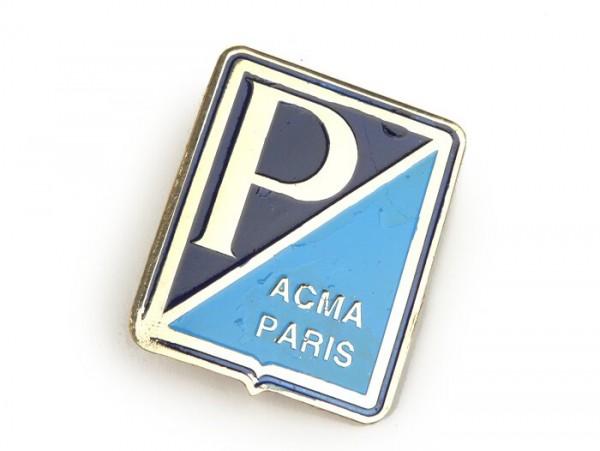 Schriftzug Kaskade -VESPA- Piaggio A.C.M.A. Paris Rechteck - (ab Bj. 1959), Vespa 125 ACMA, Vespa 150 GL ACMA, Vespa 150 GS ACMA- zum Kleben