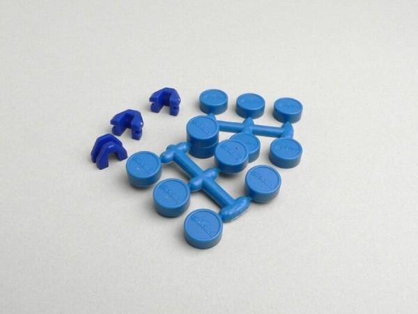 Kappen für Rollenkerne -POLINI- 15x12mm - Blau
