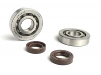 Bearing and oil seal set for crankshaft -BGM PRO- Piaggio 50cc 2-stroke