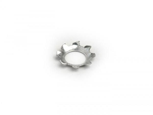 Arandela dentada 90° -DIN 6797- M6 (utilizado para las manivelas de los cófanos Lambretta LI, LIS, SX, TV)