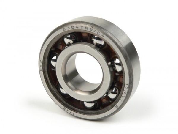 Kugellager -6304TN9C4- (20x52x15mm)- (verwendet für Kurbelwelle in Quattrini Motorgehäuse Lichtmaschinen- und Kupplungssseite Vespa PK, V50, PV125, ET3)