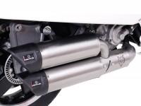 Pot d'échappement -REMUS (avec catalyseur) Ø65mm RSC Dual Flow- Vespa GTS 300ie SUPER (ZAPMA33) - (Euro 4, 2016-) - inox argenté