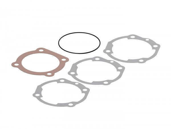 Cylinder gasket set -MALOSSI 210/221 cc SPORT/MHR  Ø=68,5mm - VESPA PX, Cosa 200 - Set contains 3 base gaskets, 1x copper head gasket, 1x O-ring gasket for cylinder head