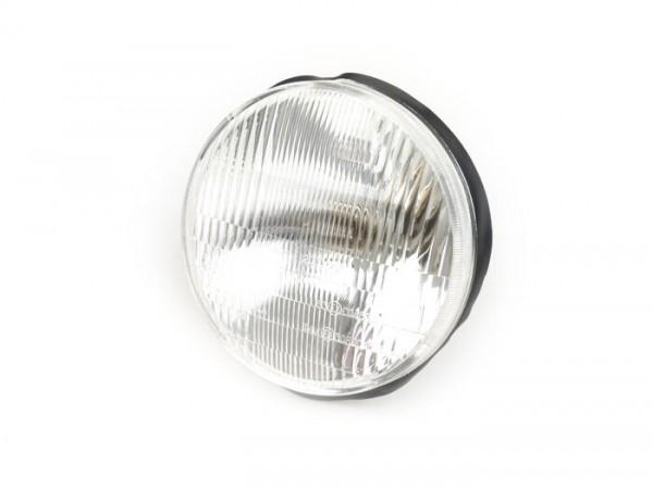 Scheinwerfer -TRIOM, Ø=135mm- Vespa PK XL/XL2 (seitlich verschraubt) - 15W (P26S) Birne - auch für Bilux passend (Bilux Lampenstecker wird benötigt)