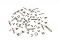 Stud set chaincase cover -MB DEVELOPMENTS stainless steel- LI (series 2-3), LIS, SX, TV (series 2-3), DL, GP - dome nut