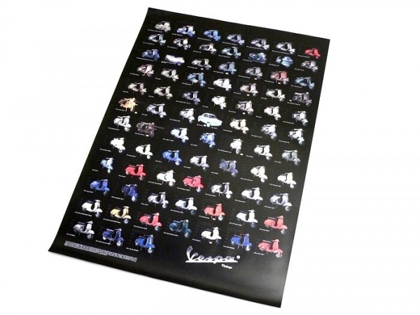 Poster -VESPA- various types - 970mm x 680mm