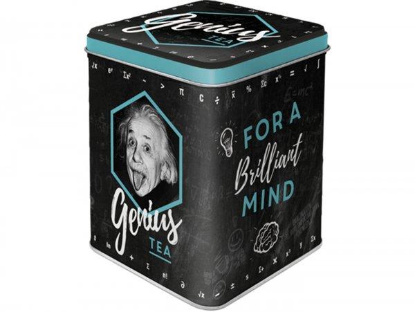 """Tea box -Nostalgic Art- """"Einstein - Genius Tea"""", 7,5 × 7,5× 9,5cm"""