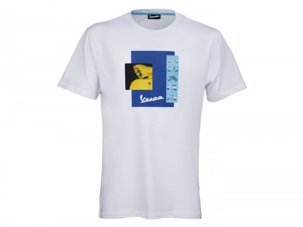 """T-Shirt -VESPA """"Heritage Collection""""- white - M"""