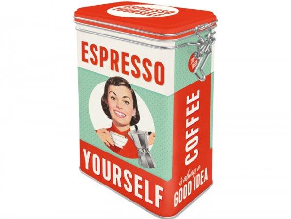 "Kaffeedose, Aromadose -Nostalgic Art- ""Espresso Yourself"" - 7.5x11x17.5cm (1.3l)"