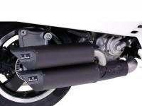 Pot d'échappement -REMUS (avec catalyseur) Ø65mm RSC Dual Flow- Vespa GTS 300ie SUPER (ZAPMA33) - (Euro 4, 2016-) - inox noir