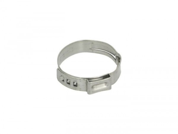 Hose clamp Ø=25.6mm (single ear clamp) -PIAGGIO- used for cooling water hoses