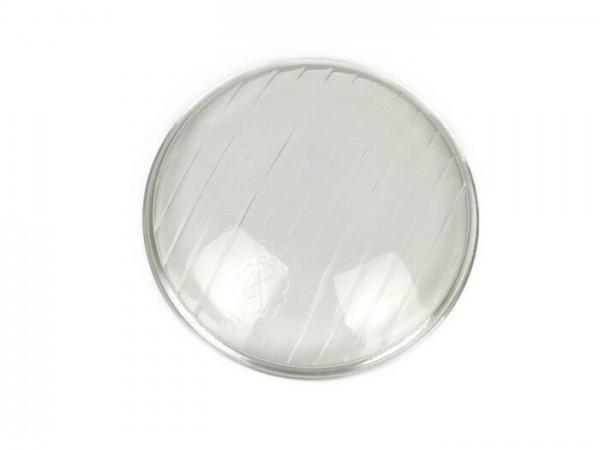 Headlight lens -SIEM Ø=95mm- Vespa Wideframe V1T, V15T, V30T, V33T, VU - long stripes