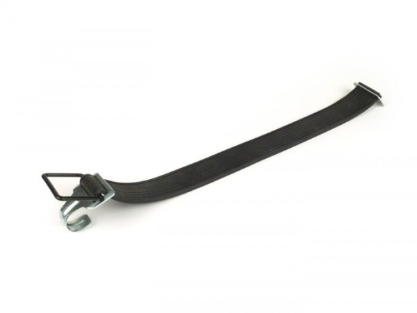 Rubber strap -BIBIA- L=500mm (50cm), black, with hook, universal for luggage rack