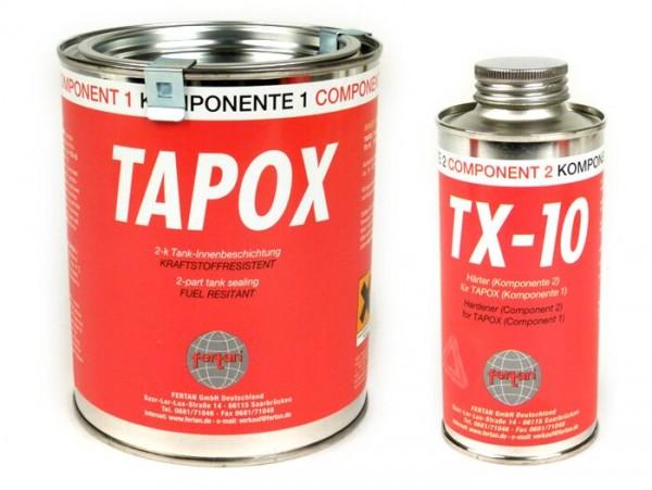 Tanque kit de sellado -FERTAN TAPOX / TX-10 - 285ml+160ml
