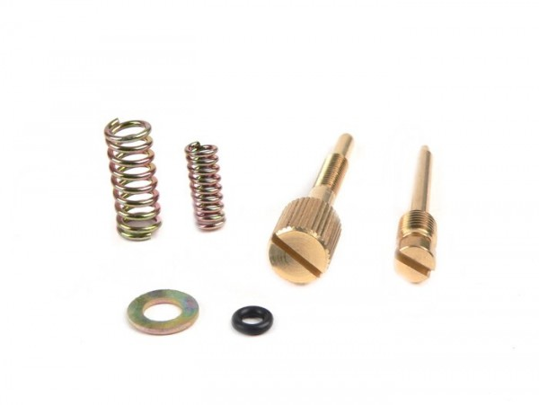 Fuel/air mixture screw and throttle valve ajduster screw set -BGM ORIGINAL M4 for BGM KWP carburettor (24mm - 26mm)