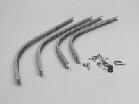 Front footboard strip set -LAMBRETTA- LI (Series 3), LIS, SX, TV (Series 3), DL, GP - alloy