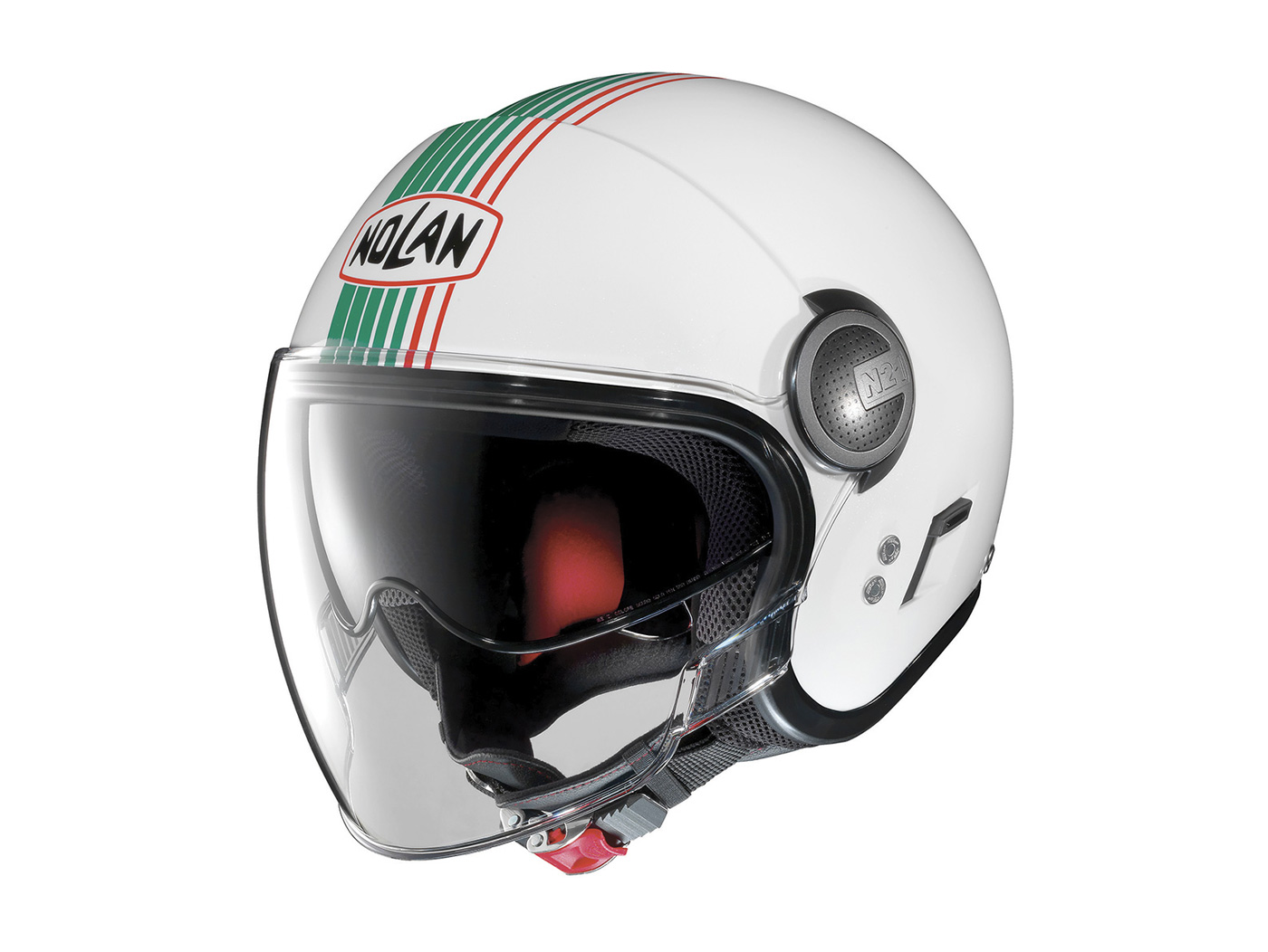 73b606b6 Helmet -NOLAN, N21 Visor Joie de Vivre- open face helmet, metallic white -  green -   Helmets   Riders gear   Scooter Center