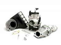 Kit carburateur -POLINI 2 goujons, 24mm Dellorto PHBL, boite à clapets- Vespa V50, PV, ET3