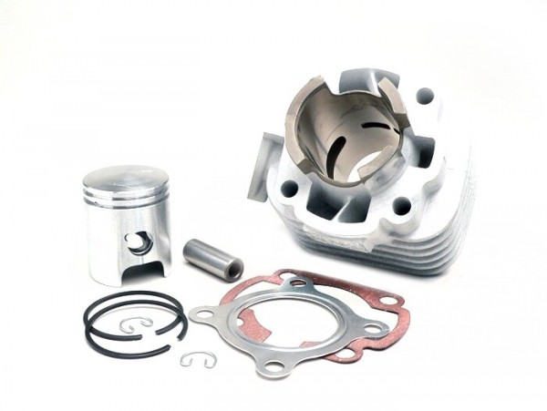 Cylinder kit -BGM ORIGINAL 50 cc aluminium- CPI AC Euro 2 - 12mm piston pin - (0° angle exhaust flange)