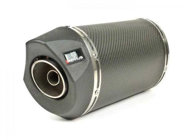 Silencer -REMUS RSC- Ø=65mm, Euro4 (2016-) - Vespa LX 125-150ie 3V, Vespa S 125-150ie 3V, Vespa Primavera 125-150ie 3V, Vespa Sprint 125-150ie 3V -  carbon