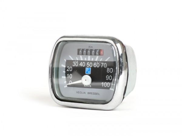 Speedo -MADE IN INDIA- Vespa VL1-VL3, ACMA, Faro Basso, Struzzo - (100km/h) grey