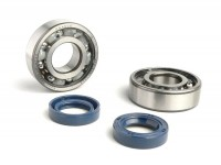 Bearing and oil seal set for crankshaft -CIF- Peugeot 50cc (horizontal cylinder) - JETFORCE 50 C-TECH, JETFORCE50 TSDI, SPEEDFIGHT3 50 AC/LC (2-stroke), LUDIX, VIVACITY50 NEW (2-stroke)