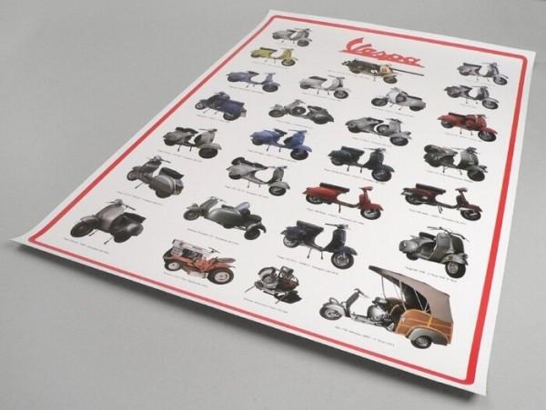Poster -VESPA serie 2- compendio modelli - 900mm x 600mm