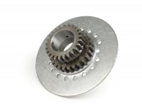 Clutch sprocket -DRT Vespa type 7 springs (Rally200, PX200, T5 125cc)- for primary gear DRT 62 tooth (straight) - 25 tooth