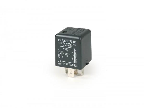 Blinkrelais -PIAGGIO 4-Pin- 12V - (verwendet z.B. bei Gilera Runner FX-FXR, Piaggio TPH 125)